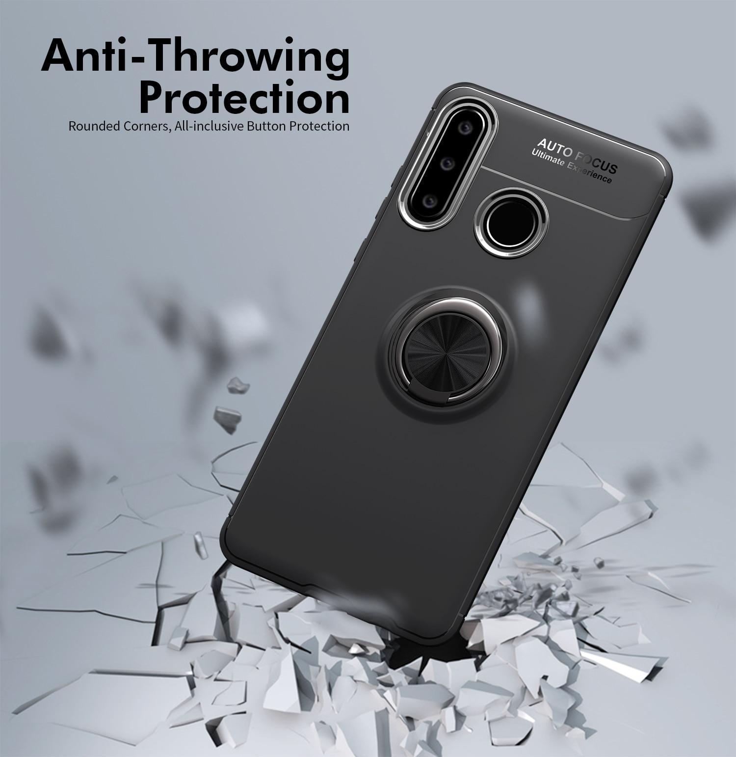 Capa de Silicone Para Samsung Galaxy A50s A30 A40 A60 A70 A20s M20 Casos Stand Caso Tampa Anel Para Samsung M31 M30s M21 UM 50 70 20