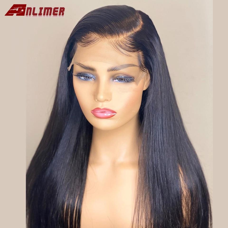 brasileiro em linha reta 5x5 base de seda do laco frente perucas de cabelo humano