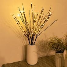LED saule branche lampe Rose Simulation orchidée branche lumières grand Vase remplissage saule brindille branche éclairée pour la décoration de la maison