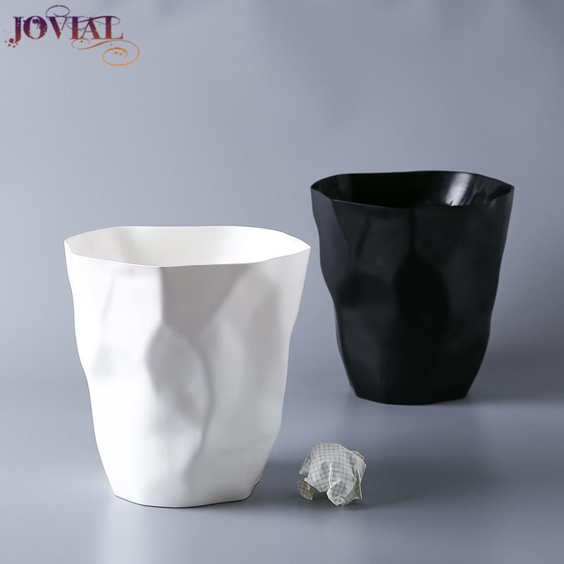 Lixo pode dobrar forma casa originalidade pp material plantio adequado para sala de estar quarto wc cozinha zero lixo bin