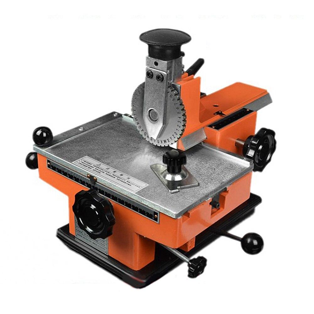 Máquina de Gravação Pequena da Marcação da Placa de Identificação Manual da Marcação Máquina de Gravação do Sinal do Metal Automática Máquina Sinal Metal do