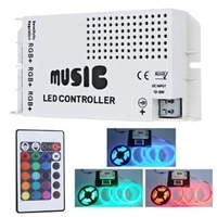 24 keys rgb controller 12v 24v music sound control wireless ir remote control led controller colorfuls dimmer for led strips