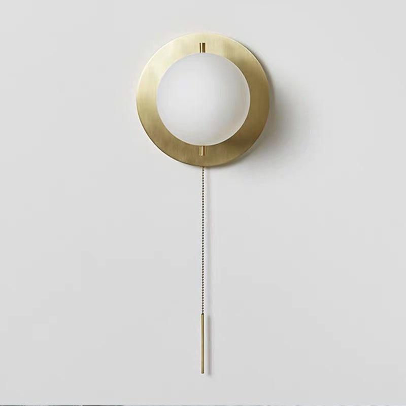 Lámpara nórdica posmoderna minimalista para pared, lámpara para estudio, sala, pasillo, dormitorio, lámpara de cristal para techo