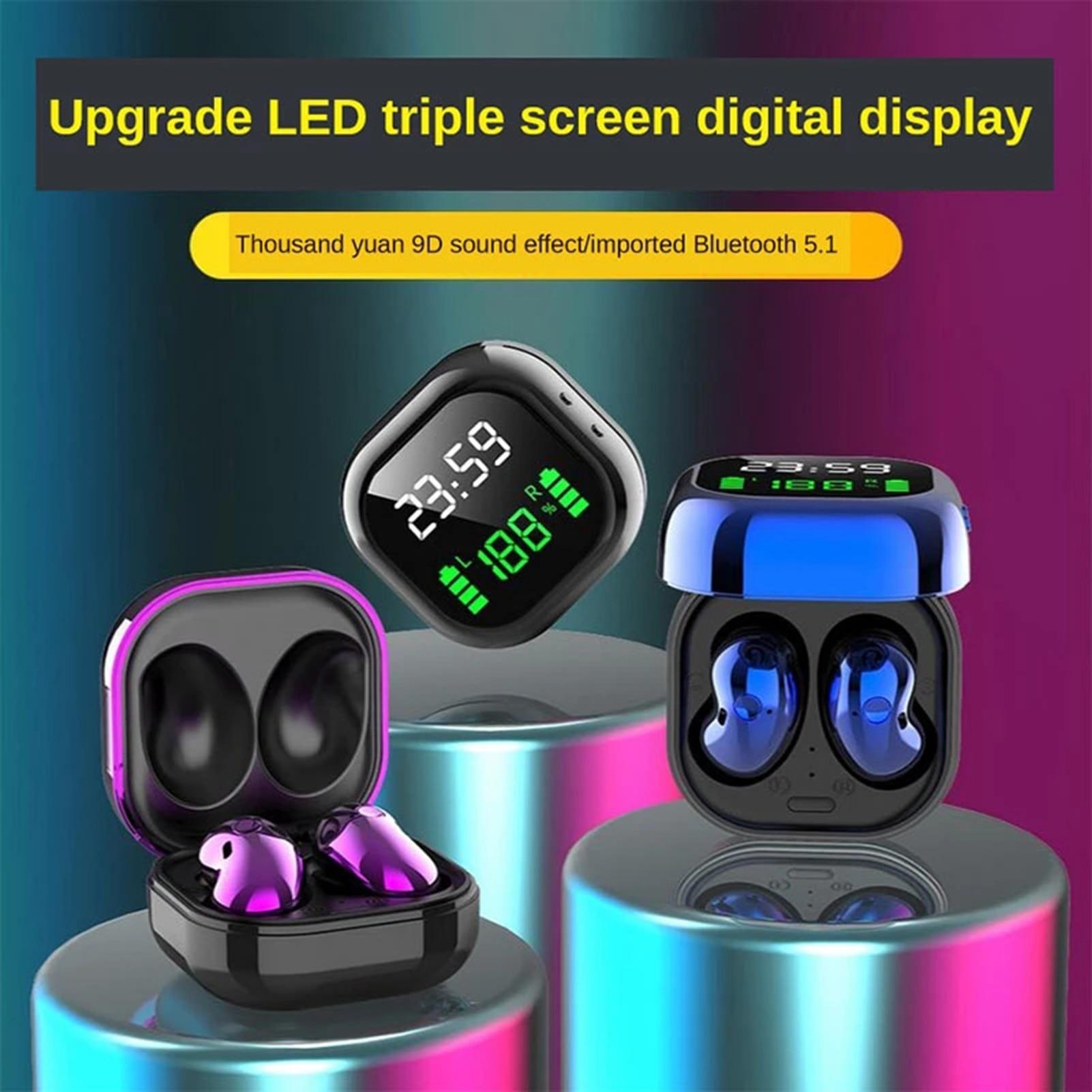 Newest S6plus TWS Bluetooth 5.1 LED Color Screen HiFi Wireless Mini Clock Earphones HD Stereo HIFI Music Sports Earbuds Headsets enlarge