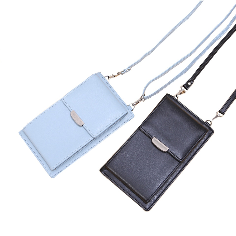2021 Small PU Leather Shoulder Bag for Girls Phone Bag Crossbody Bags Purse Clutch Wallet Women Wall