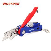 WORKPRO couteau pliant Portable avec 5 lames couteau de poche porte-clés couteau Mini Camping porte-clés Utilit couteau outil Jackknife