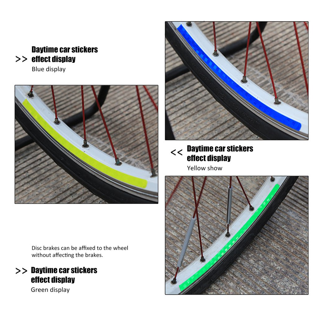 Bicycle Stickers Reflective Bicycle Accessories Bicycle Light Rim Stickers Cycling Mtb Stickers  Cycling Accessories