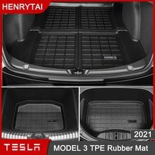 2021 Upgrade TPE Rubber Trunk Mat Front Rear Storage Mats For Tesla Model 3 Accessories Waterproof P