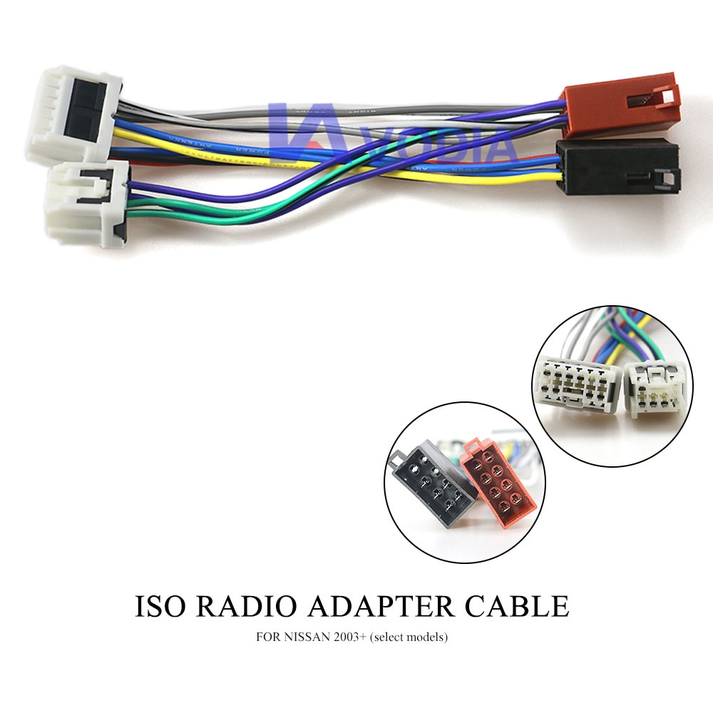 Adaptador de Radio de coche 12-120 ISO estándar arnés para NISSAN 2003 + (modelos exclusivos)