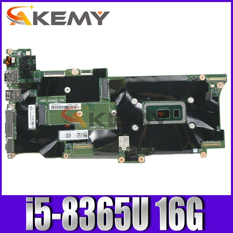 FRU 5B21C21487 5B20X57847 01YU380 لينوفو X1C X1 الكربون 7th الجنرال اللوحة الأم للكمبيوتر المحمول FX490 NM-B861 مع وحدة المعالجة المركزية i5-8365U ذاكرة الوصول العشوائي ...