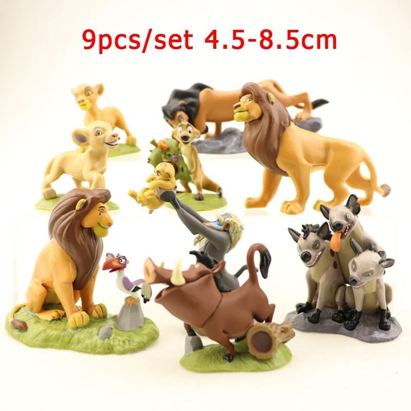 8/9/12 Uds. The Lion Guard King Kion Simba juguete de PVC viñetas de animales figura de acción Anime modelo niños figuritas muñeca niños juguete para regalo