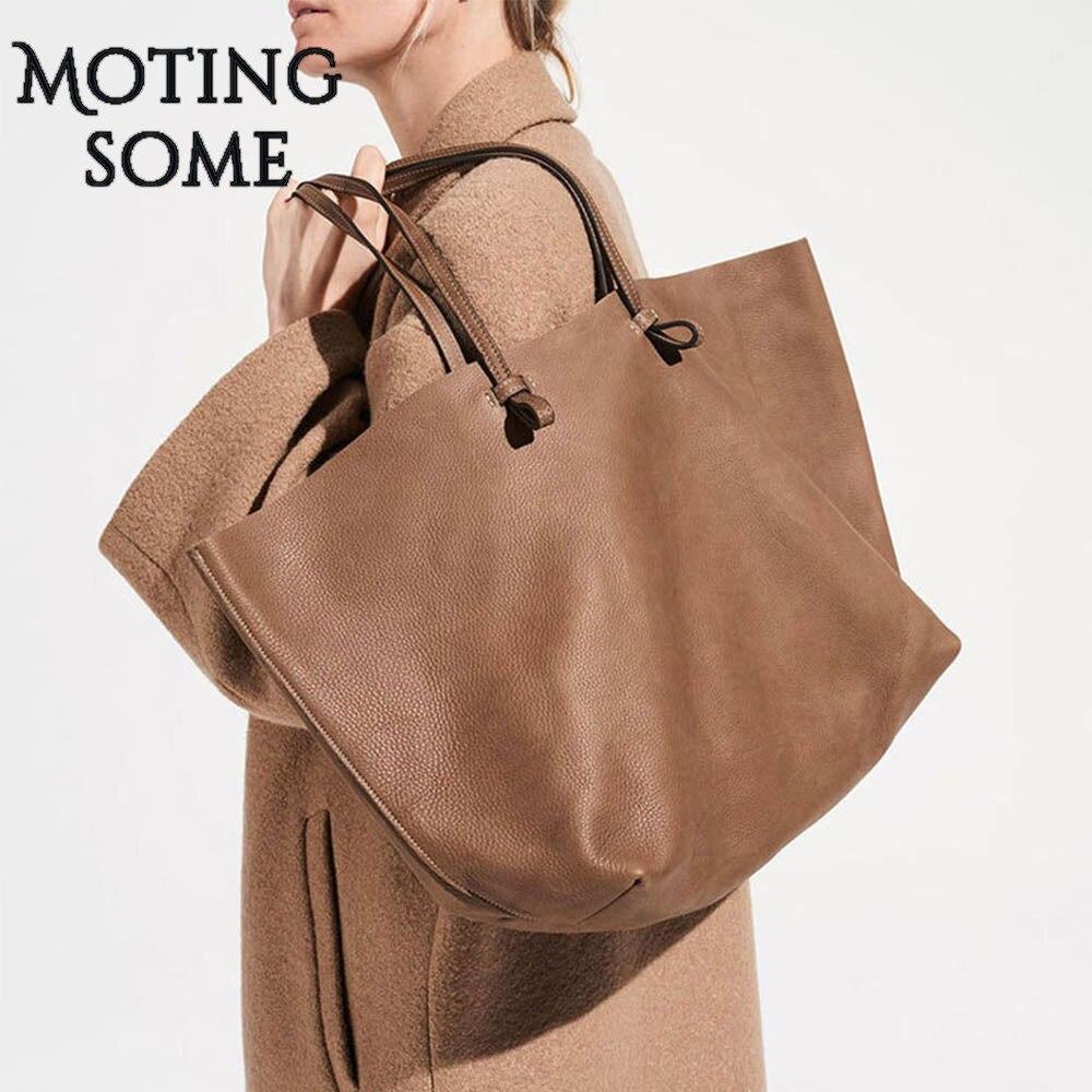 حقيبة يد كبيرة من الجلد الطبيعي للنساء ، حقيبة حمل كبيرة من جلد البقر ، جلد العجل ، حقيبة تسوق ، جلد طبيعي ، 2020