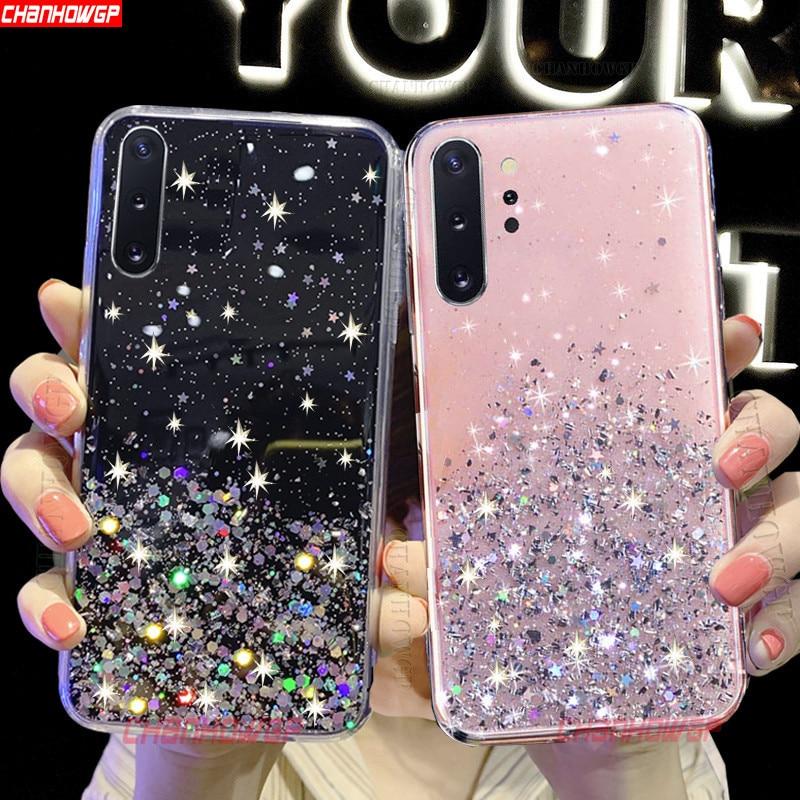 Bling Glitter Soft TPU Case For Huawei Honor 20 20S 10i 10 Lite 9X Pro 8C 8S 8A 8X 7X 7A 7C View 30 20 10 Play Sequins Cover