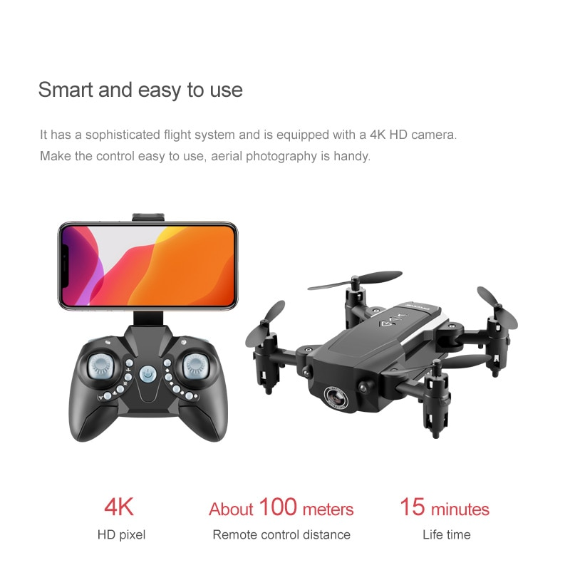 KK8 RC Mini Drone 4K Professional With HD Camera One Key Return FPV Wifi Drone Super Long Endurance Aircraft Fold Quadcopter Toy enlarge