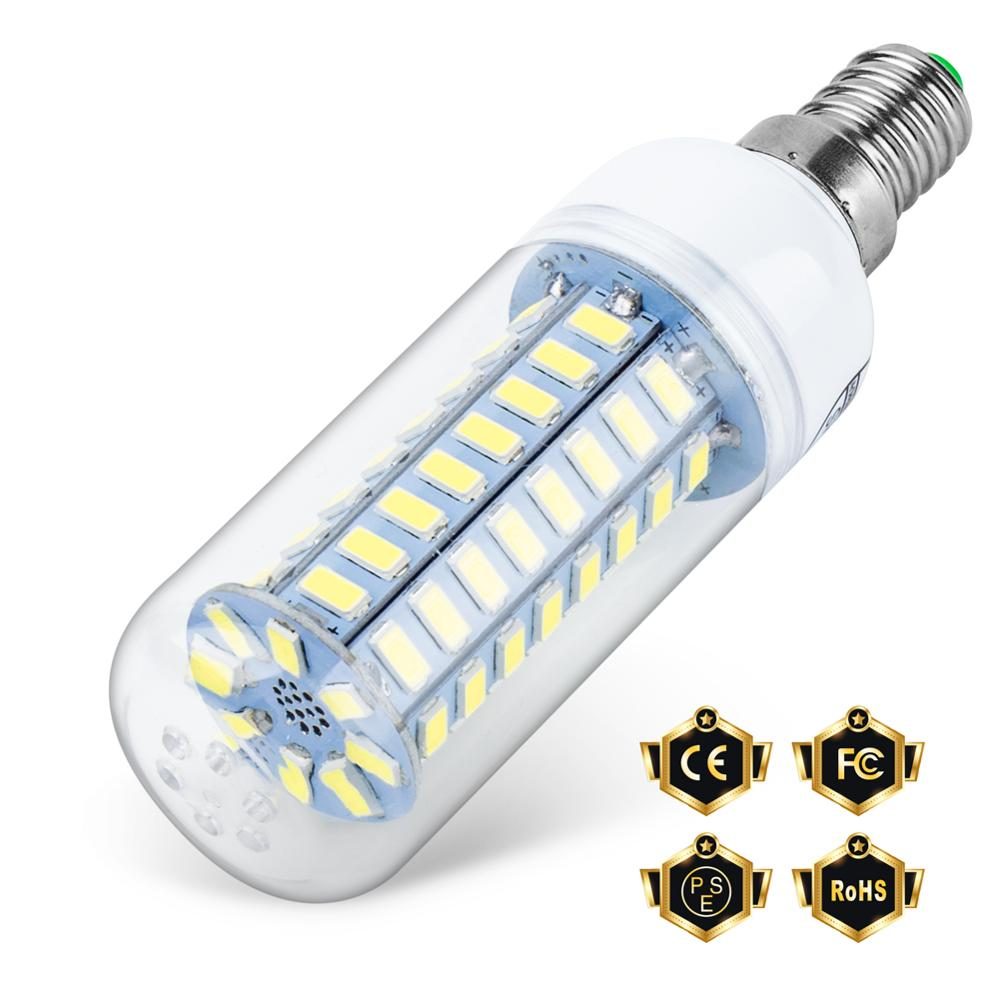 tsleen high quality 4014 smd no flicker led corn bulb e27 e14 220v led lamp light b22 g9 gu10 36 56 72 96 138leds smart power ic WENNI E14 LED Lamp 220V Bombillas GU10 LED Bulb E27 Corn Bulb G9 Candle Light 24 36 48 56 69 72leds Light B22 Lampara SMD 5730