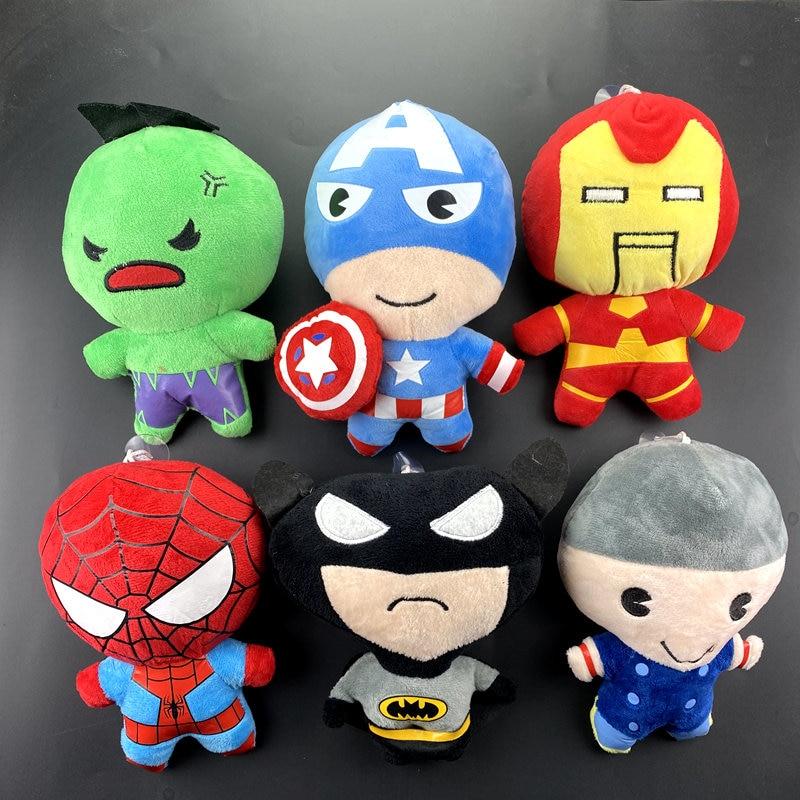 20cm Marvel Super Heroes Avengers Endgame Thanos Hulk Captain America Thor Wolverine Venom plush dolls Toys for Kid Boy hot
