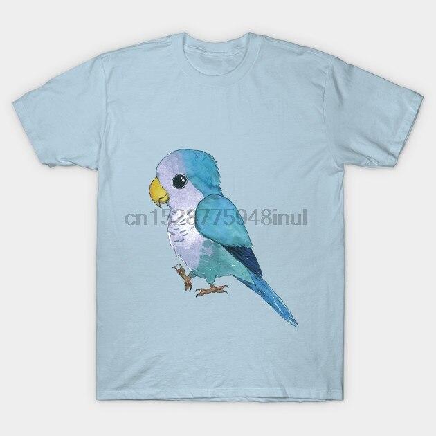 Męska koszulka z krótkim rękawem bardzo ładna niebieska papuga Quaker papuga T Shirt damska koszulka