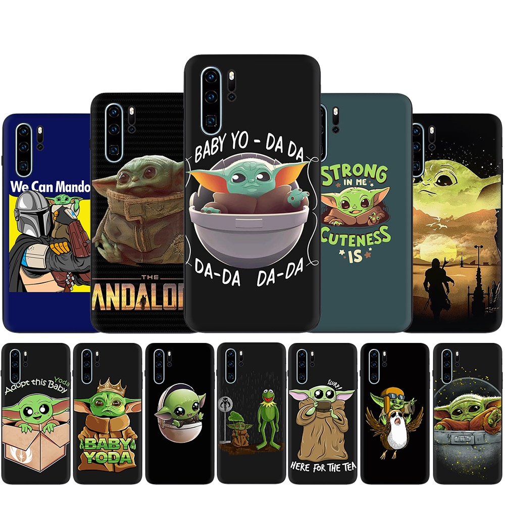 Funda de silicona para teléfono de Star Wars Baby Yoda, la Tv mandaloriana para Huawei P8 P9 Lite Mini P10 P20 P30 P40 Pro Max P Smart Z Plus