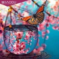 Miaodu     peinture diamant theme papillon  broderie complete 5D  perles carrees ou rondes  mosaique  decoration dinterieur