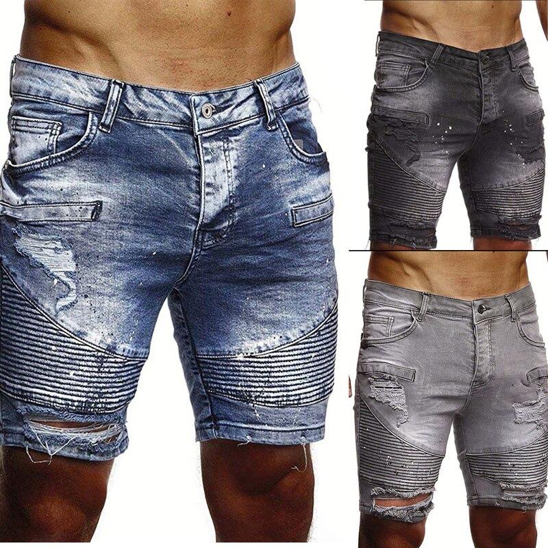 Шорты мужские джинсовые для отдыха, брендовая одежда, летние короткие штаны