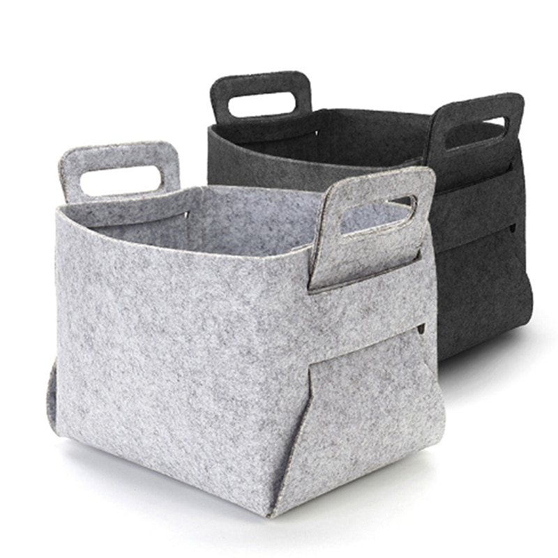 Luz preta & cinza escuro cesta de armazenamento dobrável conveniente lavanderia bin para organizador livro de brinquedo do bebê e lanches 3 cores