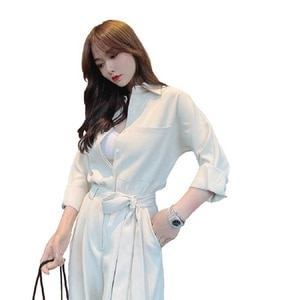 Fashion Women's Tooling Jumpsuit Female 2021 Spring And Summer New Product Small High Waist Loose Long Wide Leg Jumpsuit