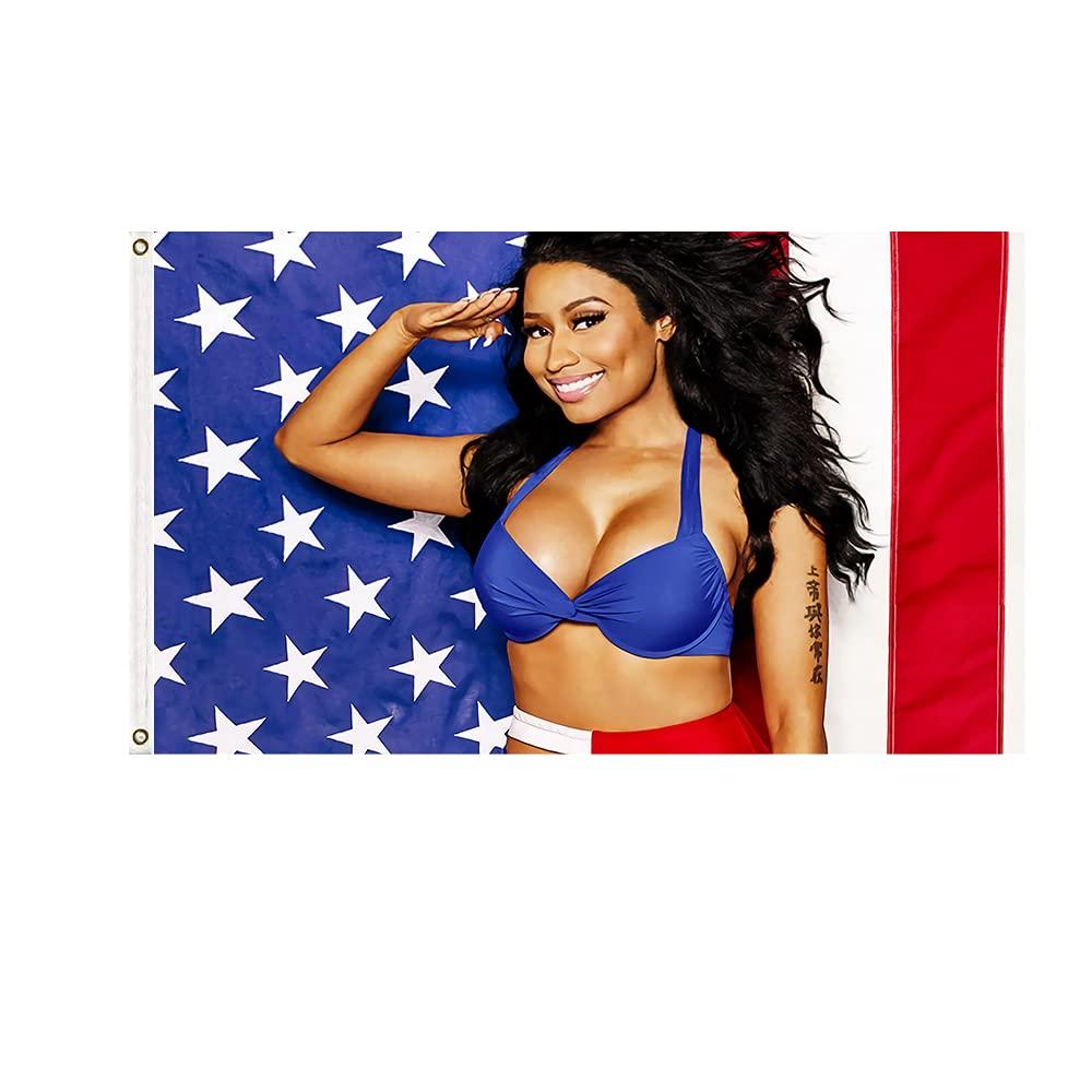 Флаг Ники и баннеры 90x150 см Nicki Minaj, эротические флаги и баннеры из полиэстера с принтом музыкальной певицы и звезды США