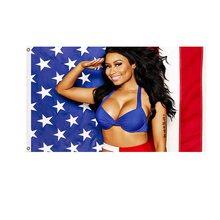 90x150cm Nicki Minaj Flag Rap Sexy USA Music Singer Star Polyester Printed Art Flags and Banners