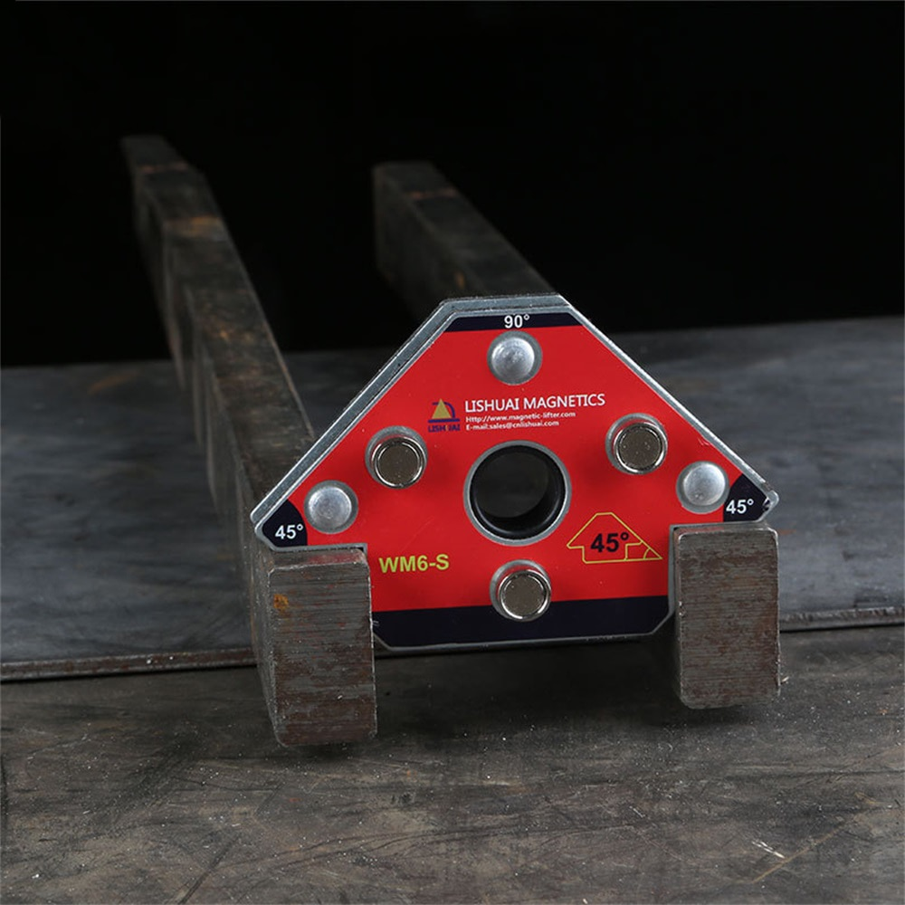 1 Pcs Strong Magnetic Welding Holder Neodymium NdFeB Magnet For Corner Arrow Welding Arrow Positioner Locator With Holes WM6-M+