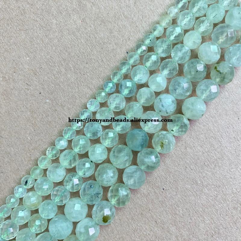 2 الكثير أكثر 10% قبالة! شبه حجر كريم قطع الماس الأوجه AA جودة الأخضر Prehnite 7