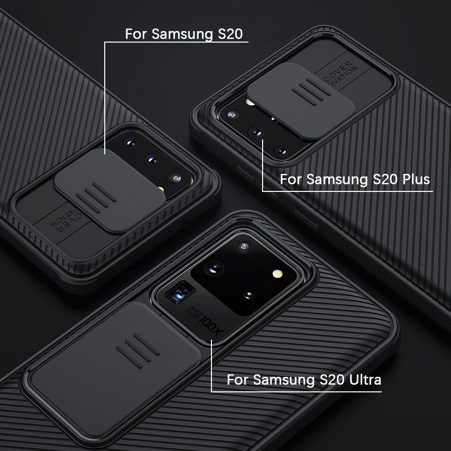 for Samsung S20 Ultra Case NILLKIN Slide Camera Lens Protective Cover Case for Samsung Galaxy S21 S20 FE S20+ Plus Note 20 Ultra