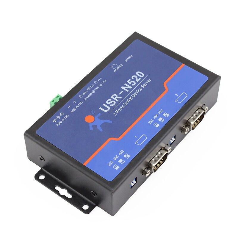 USR-N520 serie RS232/RS485/RS422 a servidor Ethernet Modbus RTU a Modbus TCP