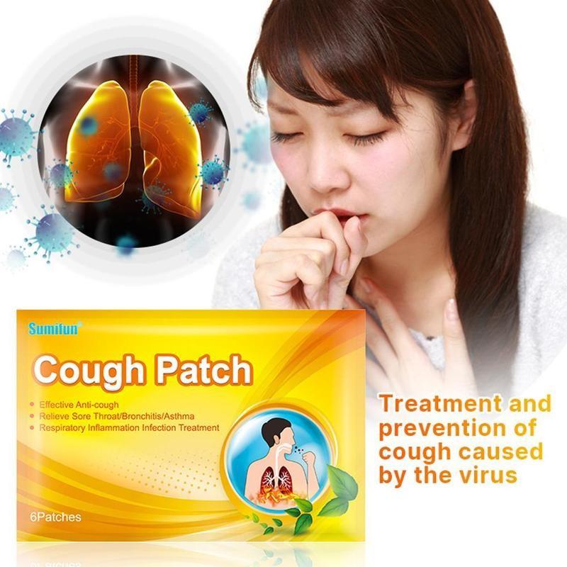 6 pces remendo da tosse anti-tosse emplastro médico erval phlegm excessivo aliviar a asma suprimir a tosse adesivo
