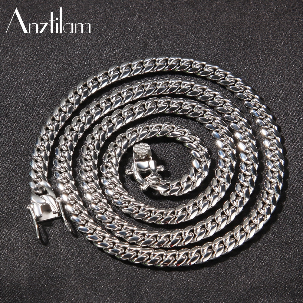 6mm Hip Hop High-End 316L Stainless Steel  Cuban Link Chain Necklaces for Men Rapper Fashion Choker Jewelry Drop Shipping