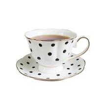 Tasse de café en céramique 200ml   Ensemble de luxe tasse à café Point de vague rayée, tasse de thé en porcelaine de qualité supérieure, tasse de café fête