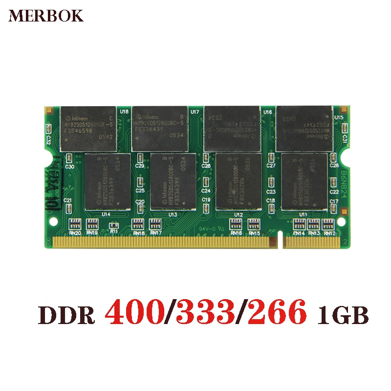 PC3200 DDR 400 1GB portátil de Memoria Ram SO-DIMM 200PIN DDR1 DDR333...