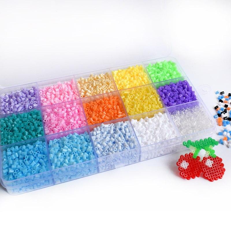 Hama-Mini cuentas de fusible de Macaron para niños, rompecabezas 3D de 2,6mm,...