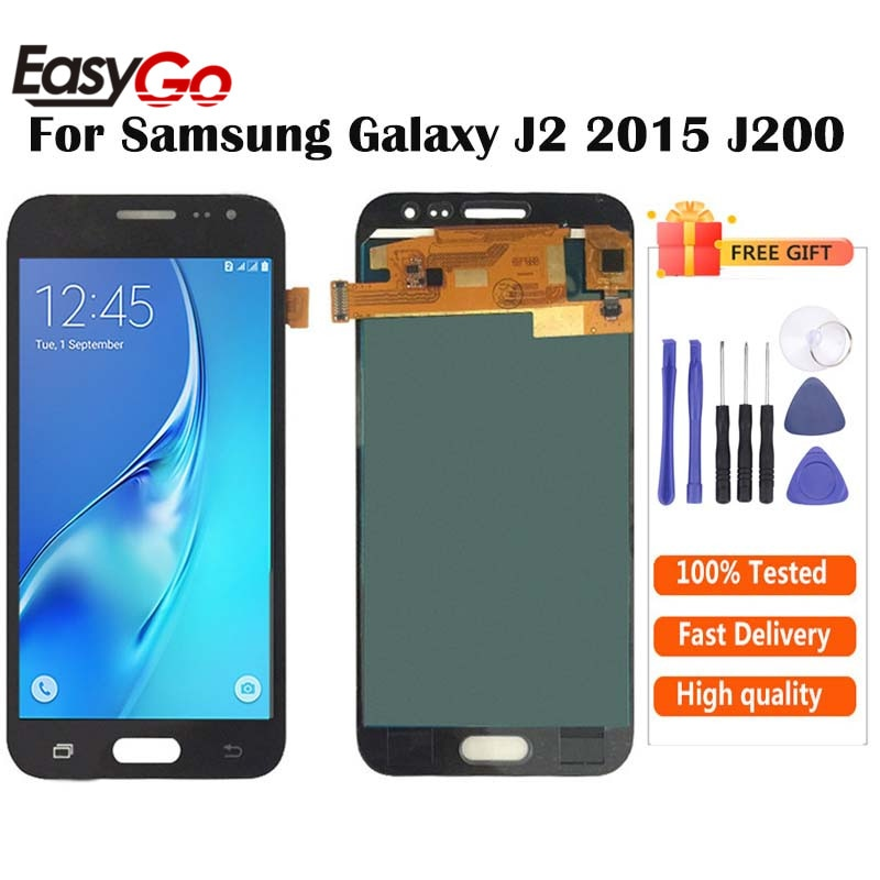 Pode ajustar o brilho display lcd + touch screen digitador assembléia para samsung galaxy j2 j200 j200f j200h j200y