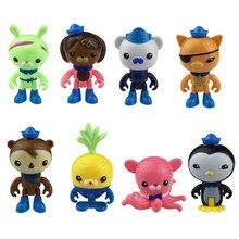 8 pcs/lot octonauts figure jouets octonauts peso captain Barnacles kwazii shellington Dashi tlow Inkling octonauts brinquedos