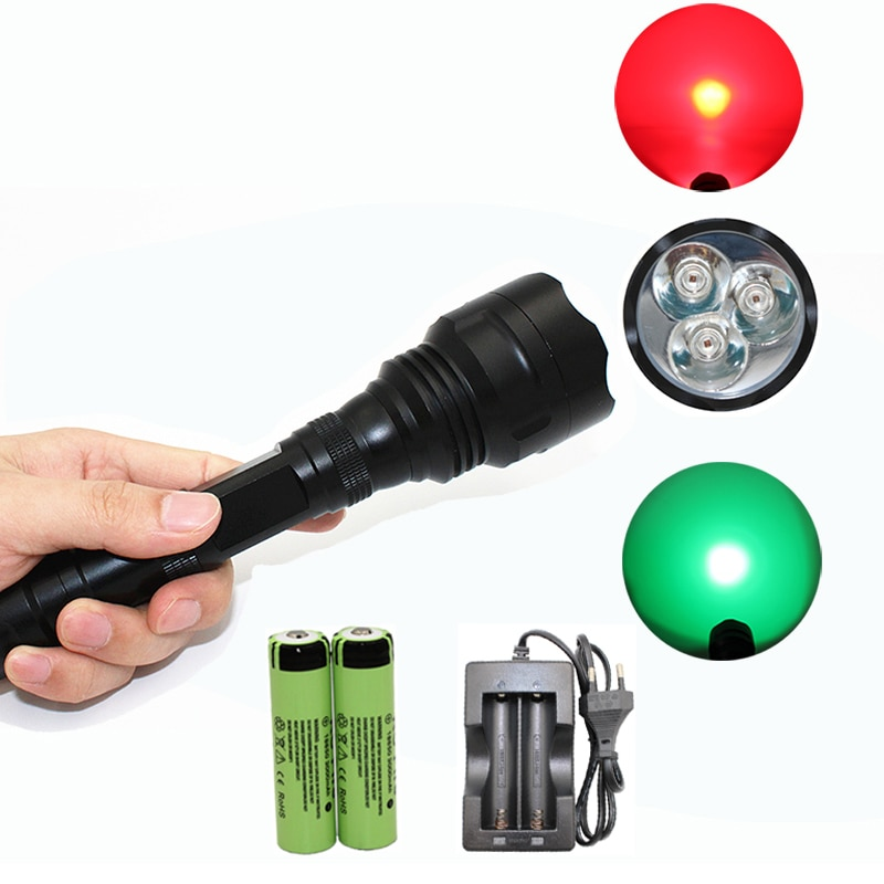 3x XM-L Q5 1200 Lumens LED Flashlight Outdoor Utral Bright Torch Lamp + 2x 18650 Battery + Charger For Camping Hiking