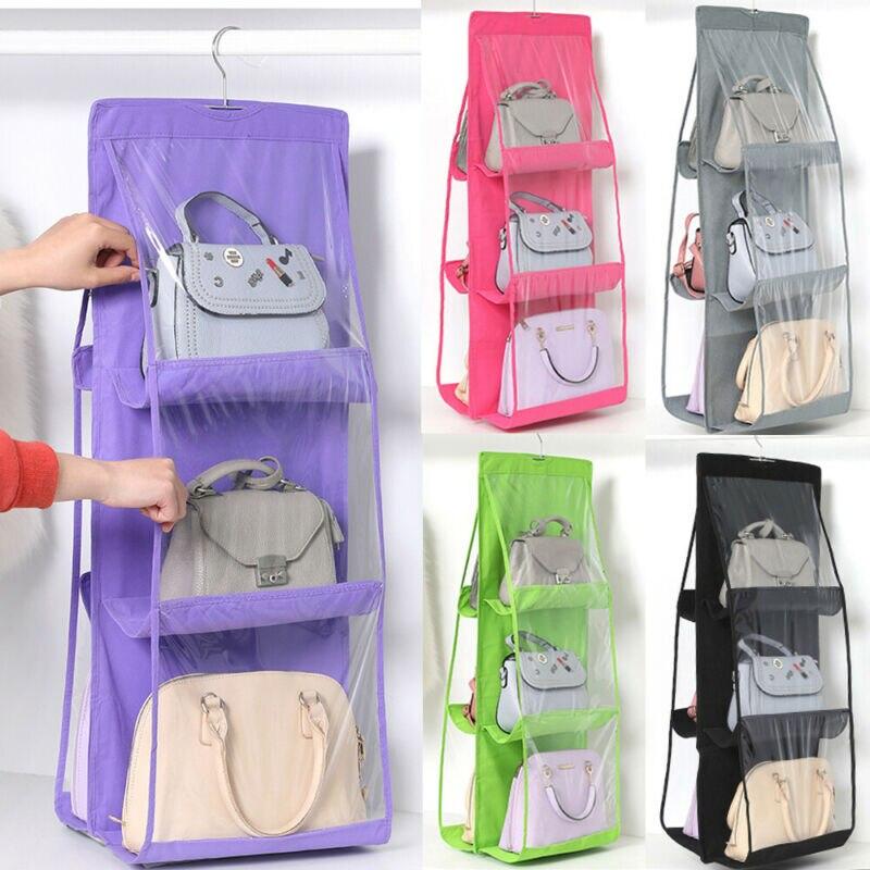 6 карманов, складная висячая сумка, 3 слоя, Складная полка, сумка, карманная дверь, органайзер, вешалка для хранения, вешалка для шкафа