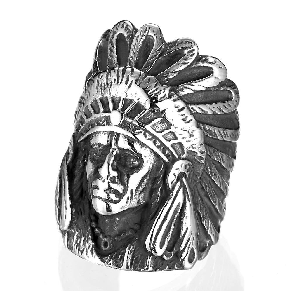 Anillo WAWFROK de acero inoxidable, anillos indios de Color plateado para hombre, anillos de estilo Punk