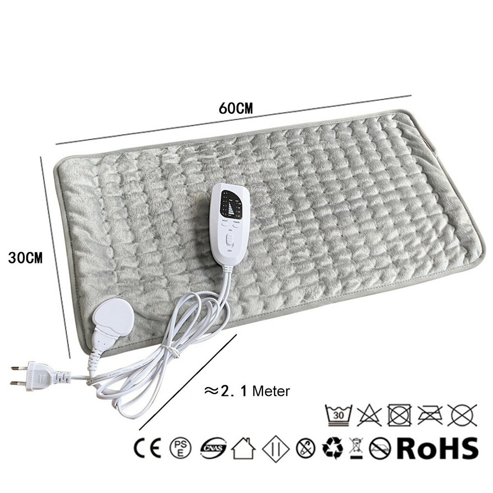Physiotherapy Heating Pad Electric Heating Pad Back Therapy Pad Small Electric Blanket 60x30cm 110/220V EU/US/AU/UK Japan Plug