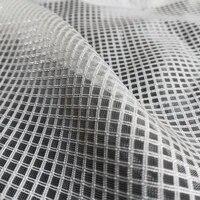 2021 shiny square organza mesh fabric for fashion lady cap childs tutu skirt apparel woven net fabric