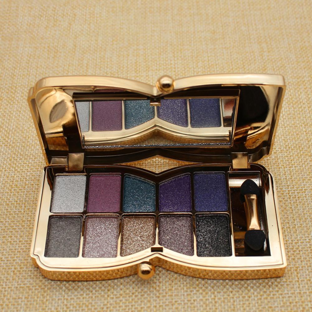 10 цветов осветляющая палитра теней для век Дымчатая мерцающая пудра Гладкий макияж