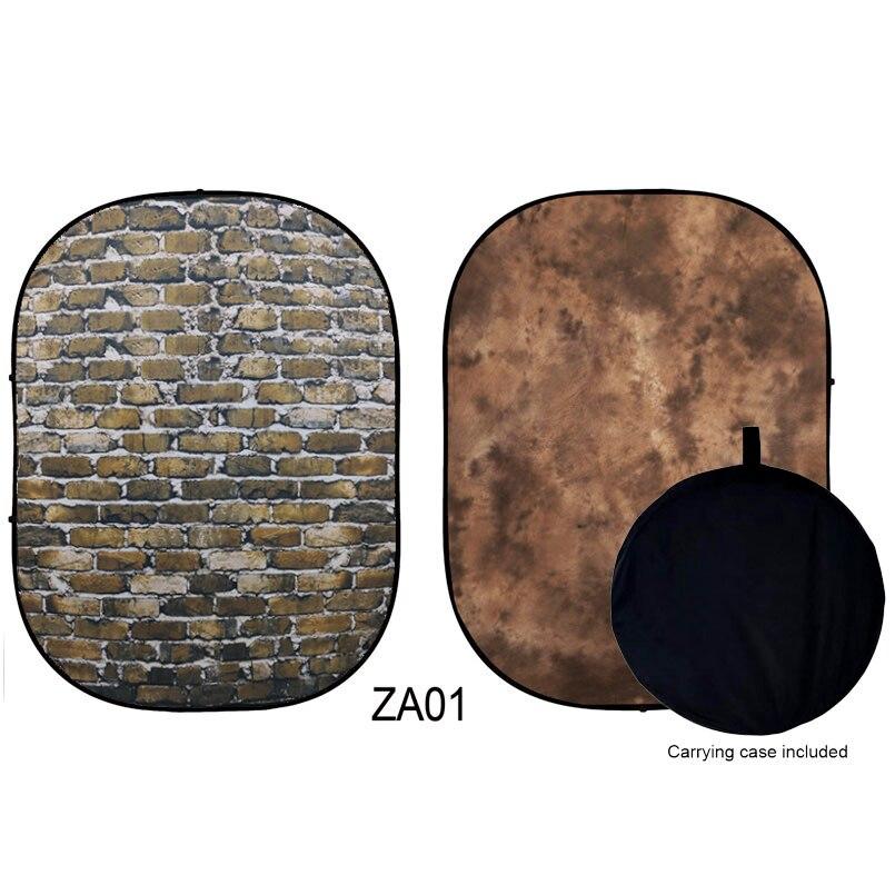 على الوجهين المنبثقة الشاش خلفية ماتي للطي خلفية لا التجاعيد قابل للغسل خلفيات للتصوير الفوتوغرافي حقيبة وشملت 5X6.5ft