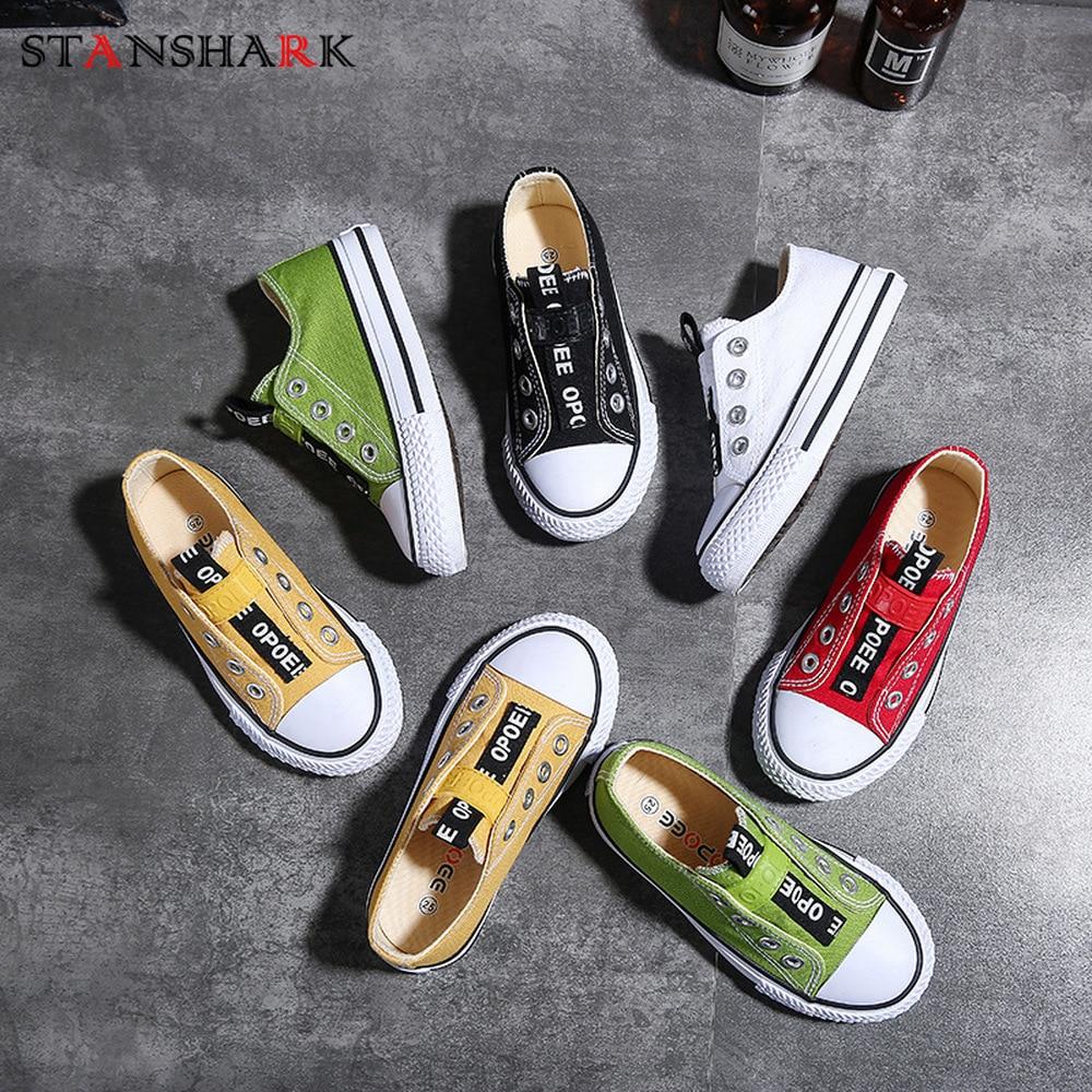 5 Color de los niños de primavera y verano zapatos de los niños zapatos informal tela de algodón zapatillas de deporte suave cómodo Slip-en la escuela lienzo de estudiante zapatos
