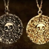 pirate skull round pendant necklace mens necklace new fashion metal sweater chain accessories party jewelry