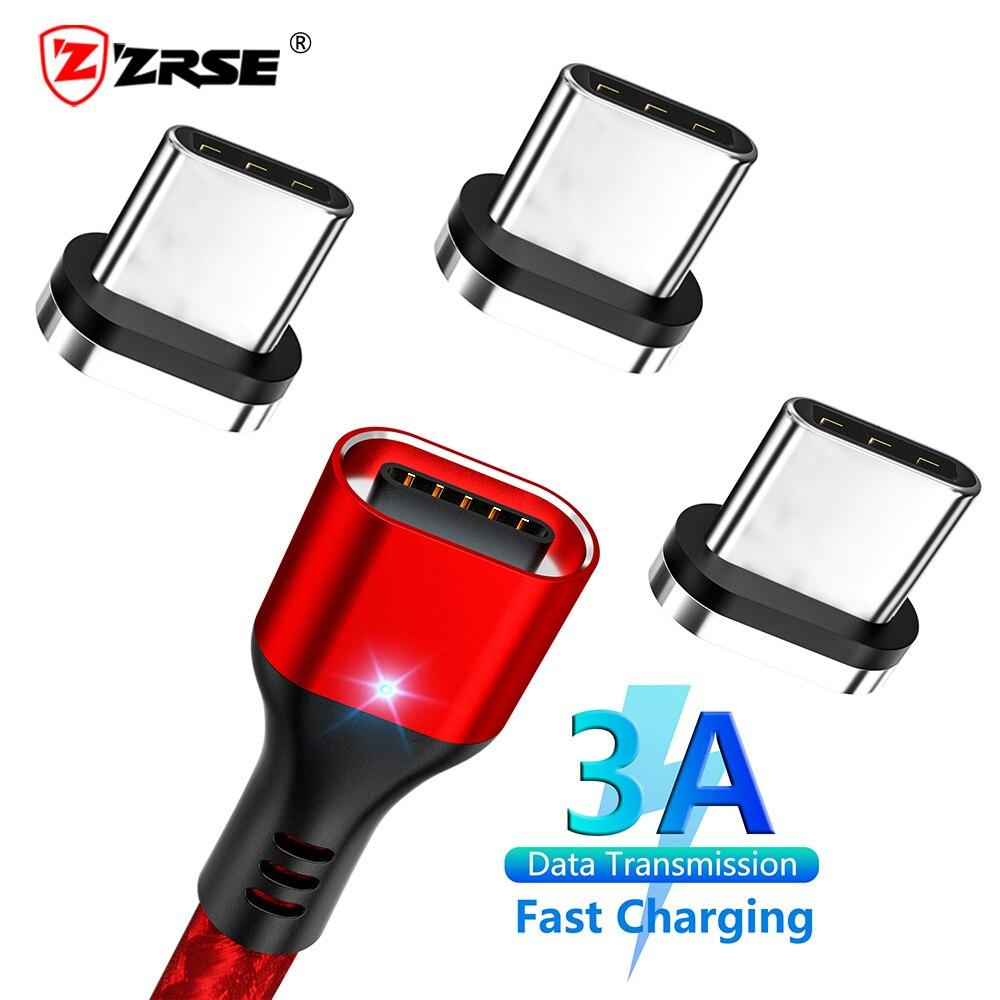 Cable magnético ZRSE, Cable Usb tipo C para Samsung, carga rápida 3,0, Cable de carga rápida para Xiaomi, Cables Usb C para teléfono móvil Redmi