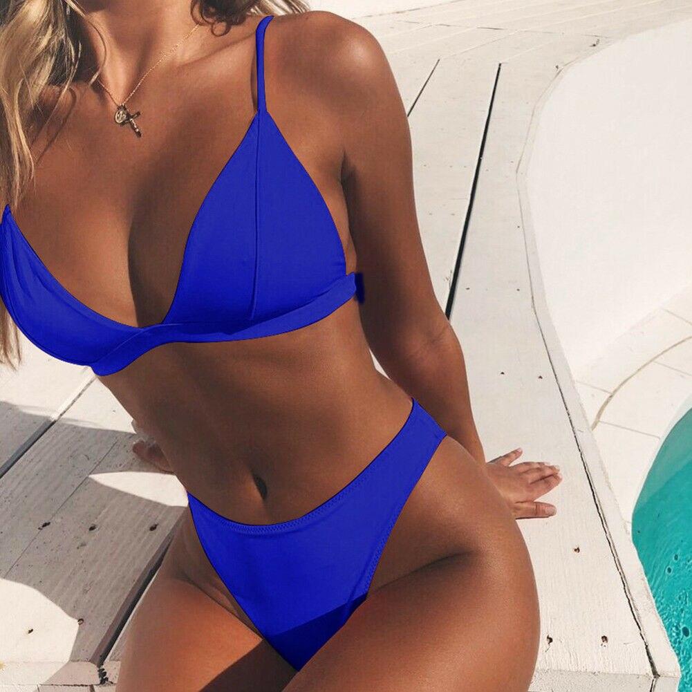 2019 femmes Push-up rembourré soutien-gorge Bikini été ensemble e maillot de bain maillots de bain